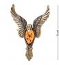 AM- 952 Брошь  Феникс   латунь, янтарь