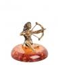 AM- 993 Фигурка  Знак зодиака-Стрелец   латунь, янтарь