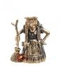 AM-1000 Фигурка  Колокольчик Баба-Яга   латунь, янтарь