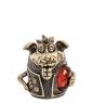 Фотография AM-1002 Фигурка  Колокольчик-Барбоскин   латунь, янтарь №1