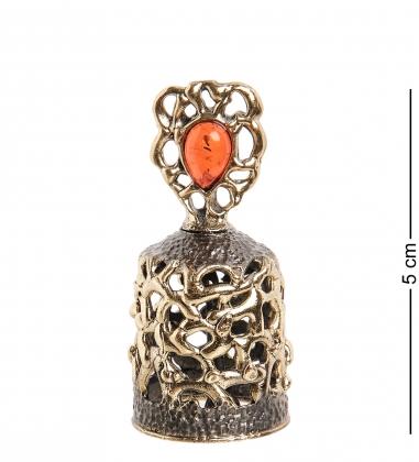 Первая фотография AM-1003 Фигурка  Колокольчик-Брызги шампанского   латунь, янтарь