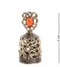 Фотография AM-1003 Фигурка  Колокольчик-Брызги шампанского   латунь, янтарь №1