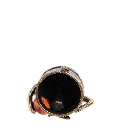 Первая фотография AM-1006 Фигурка  Колокольчик-Заяц Крош   латунь, янтарь