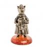 AM-1012 Фигурка  Колокольчик-Кошка Стюардесса   латунь, янтарь