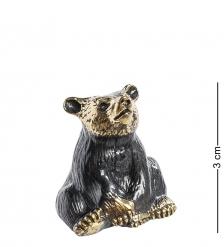 AM-1016 Фигурка  Колокольчик-Медведь   латунь