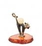 AM-1030 Фигурка  Кот Мурлыка   латунь, янтарь