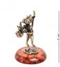 AM-1039 Фигурка  Кот с саксофоном   латунь, янтарь