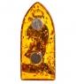 Фотография AM-1099 Магнит  Рыцарь   латунь, янтарь №2