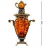 AM-1103 Магнит  Самовар Суздальский   латунь, янтарь