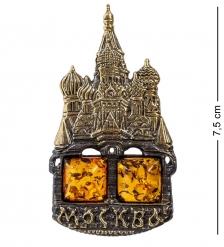 AM-1106 Магнит  Храм Василия Блаженного   латунь, янтарь
