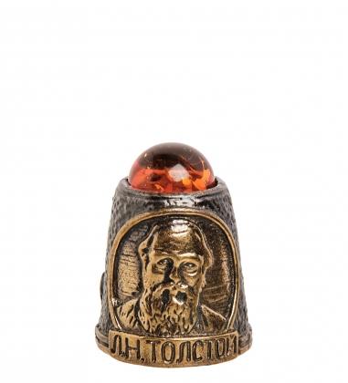 AM-1135 Наперсток  Толстой Л.Н.   латунь, янтарь