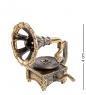 AM-1159 Фигурка  Патефон ажурный   латунь, янтарь