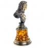 AM-1163 Фигурка  Петр I-Бюст   латунь, янтарь