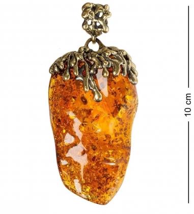 AM-1169 Подвеска  Брызги Шампанского   латунь, янтарь