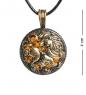 AM-1183 Подвеска  Знак зодиака-Лев   латунь, янтарь