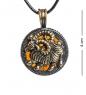 AM-1184 Подвеска  Знак зодиака-Овен   латунь, янтарь