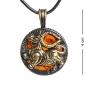 AM-1187 Подвеска  Знак зодиака-Телец   латунь, янтарь