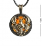 AM-1188 Подвеска «Знак зодиака-Рак»  латунь, янтарь