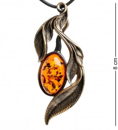 AM-1191 Подвеска  Ива   латунь, янтарь
