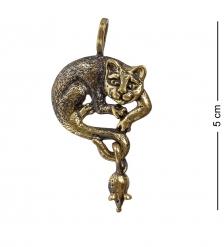 AM-1194 Подвеска «Кот с мышкой»  латунь
