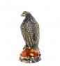 AM-1237 Фигурка «Ворон на гнезде»  латунь, янтарь