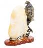 AM-1238 Фигурка  Ворон у скалы   латунь, янтарь