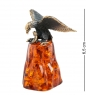 AM-1243 Фигурка  Орел на скале со змеёй   латунь, янтарь