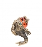AM-1265 Фигурка  Добрый карп   латунь, янтарь