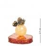 AM-1266 Фигурка Золотая рыбка на шарике  латунь, янтарь