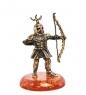 AM-1273 Фигурка  Рыцарь лучник   латунь, янтарь