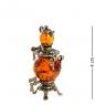 AM-1280 Фигурка  Самовар   латунь, янтарь