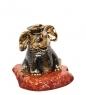 AM-1293 Фигурка  Слон Морячок   латунь, янтарь