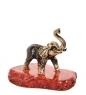 AM-1294 Фигурка  Слон тайский   латунь, янтарь
