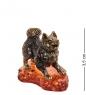 AM-1308 Фигурка  Лайка   латунь, янтарь