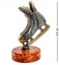 AM-1335 Фигурка  Хоккей – спорт сильных   латунь, янтарь
