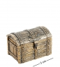 AM-1344 Фигурка  Сундук   латунь, янтарь