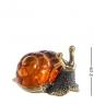 AM-1351 Фигурка  Улитка с домиком   латунь, янтарь