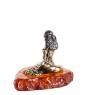 AM-1353 Фигурка  Фортуна   латунь, янтарь