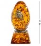 AM-1364 Фигурка  Яйцо с букетом   латунь, янтарь