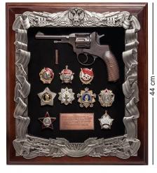 ПК-183 Панно «Наган с наградами СССР» 40х44