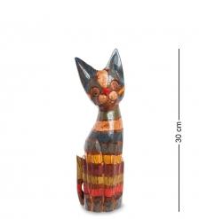 99-037 Статуэтка Кошка 30 см  албезия, о.Бали