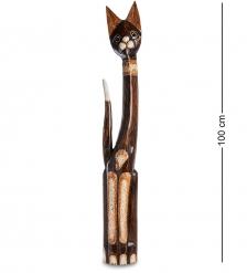 99-095 Статуэтка «Кошка» 100 см  албезия, о.Бали