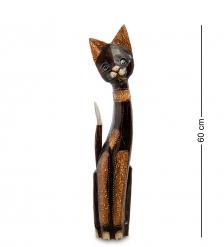 99-097 Статуэтка «Кошка» 60 см  албезия, о.Бали