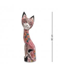 99-106 Статуэтка «Кошка» 40 см  албезия, о.Бали