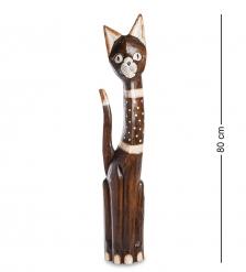 99-145 Статуэтка «Кошка» 80 см  албезия, о.Бали