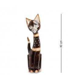99-148 Статуэтка «Кошка» 40 см  албезия, о.Бали