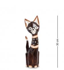 99-149 Статуэтка «Кошка» 30 см  албезия, о.Бали