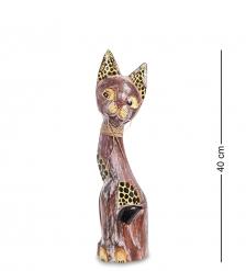 99-190 Статуэтка «Кошка» 40 см  албезия, о.Бали