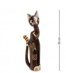 99-209 Статуэтка «Кошка» 50 см  албезия, о.Бали