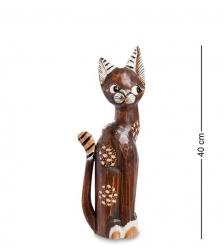 99-210 Статуэтка  Кошка  40 см  албезия, о.Бали